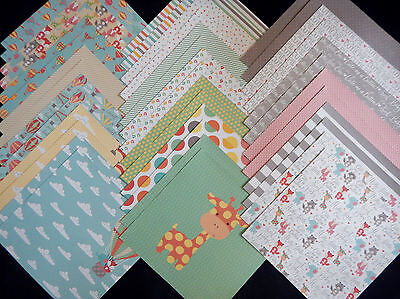 12x12 Scrapbook Paper Studio Cardstock Hooray Baby Animals Little Nursery Boy 40