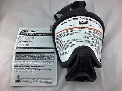Msa Ultra Elite Aprcbrnnbc Hycar Respirator Gas Mask Size Med Part 7-934-1c