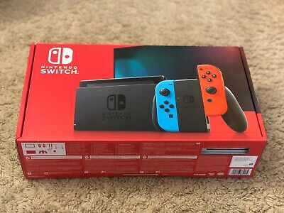 SHIP ASAP Nintendo Switch 32 GB Console Neon Blue Red Joy Con HAC-001 (-01) NEW