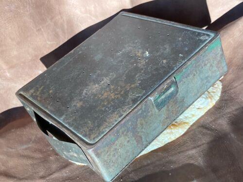 Antique Civil War Era Medical Field Hospital Leeches Container Jar Tin Can Case