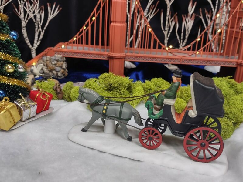 Dept. 56 Heritage Village Central Park Horse Carriage  Buggy Accessory #5979-0
