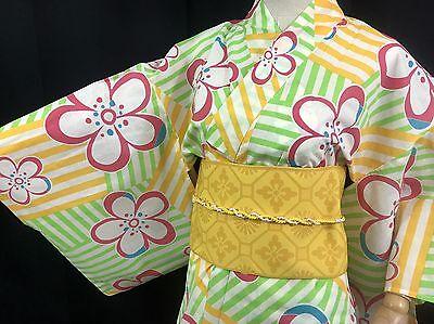 浴衣 Yukata Japanisch - Blumen - Import Live Japan 1412