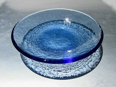 Brand NEW COBALT DIPPING DISH by Fire and Light Recycled Art Glass
