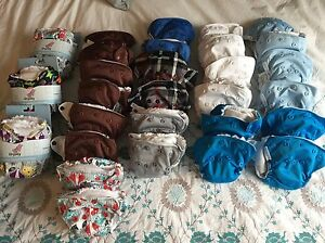 32 New and gently used L'il Joey Newborn Cloth diapers