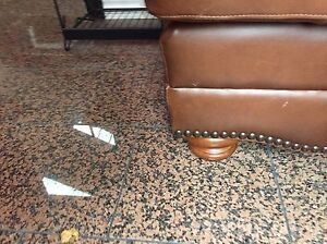 Brown Leather Couch and Ottoman  London Ontario image 3