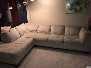Oakdale 2-piece Microsuede Left Facing Sectional