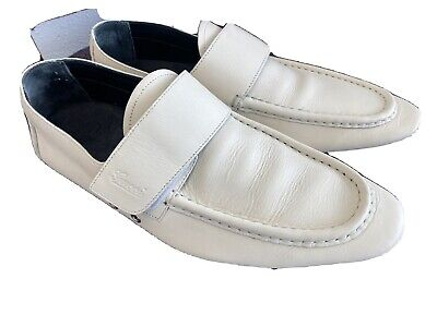 ❤️Gucci Vintage Loafers White Leather Men's Shoe 11 D Italy As Is