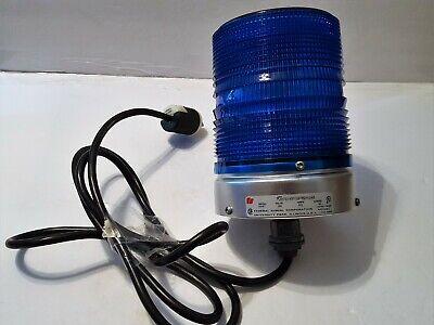 Federal Signal Model 131st Starfire Strobe Light Blue 120 Volts Wplug Excellent