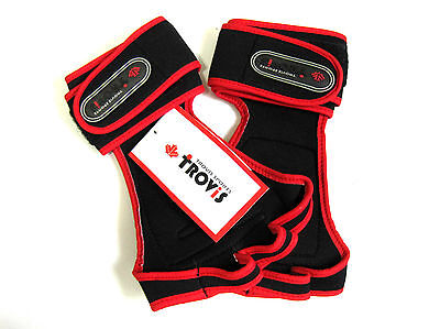 Red Trovis Weight Lifting Strap Gloves Gym / Exercise / Fitness / Body builder