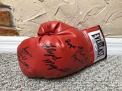 FLOYD MAYWEATHER Jr + Family signed Boxing GLOVE Signiert TMT PSA/DNA COA LOA