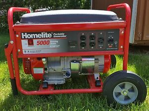 Homelite HG5000 Series 5000 Watt Portable Generator *Update* TESTED!!!