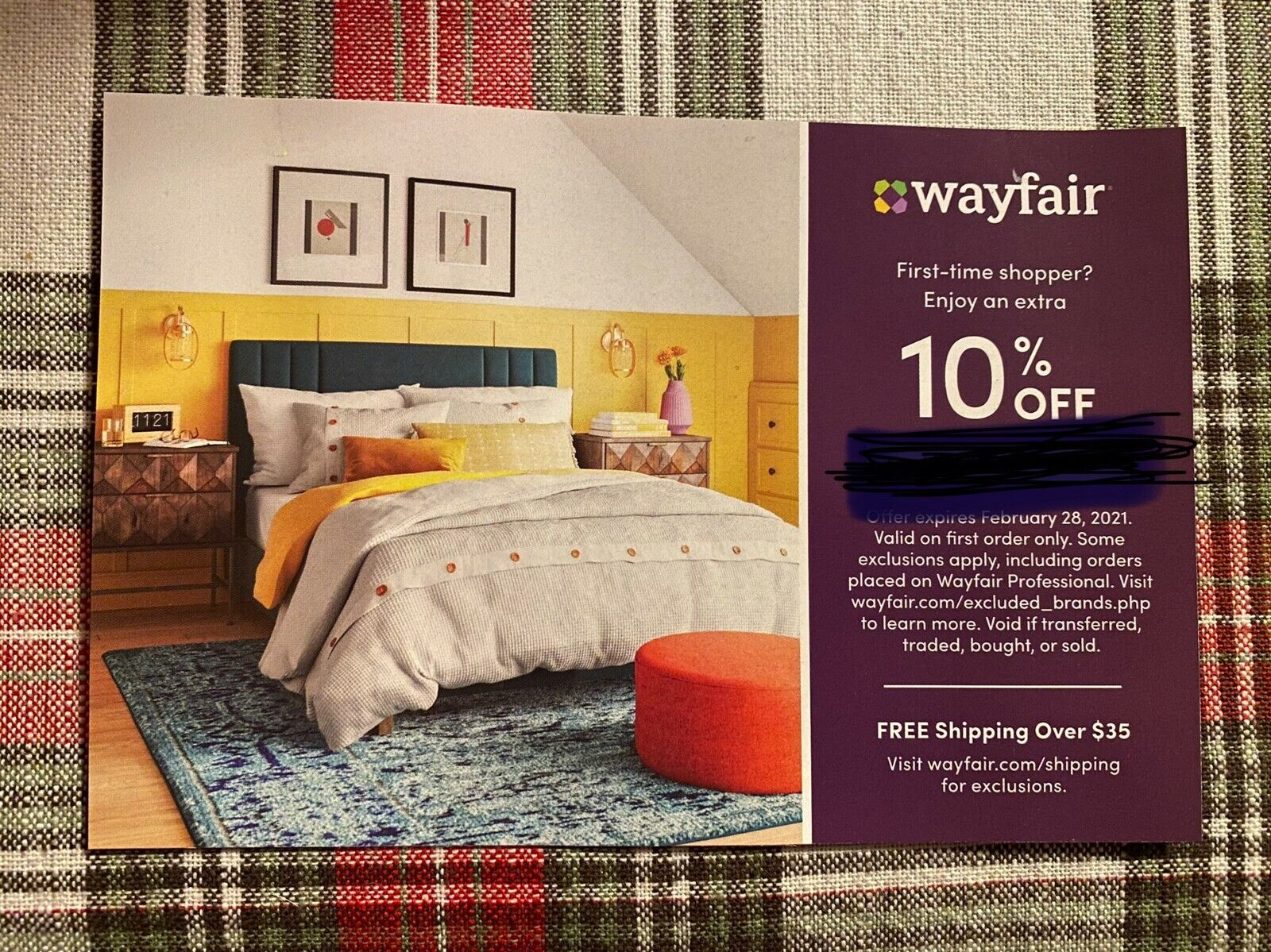 Wayfair Coupon 10 Off Discount Promo Code Expires Feb 28 2021 FIRST ORDER ONLY - $8.98