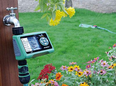 Bewässerungscomputer Timer Regensensor elektronisch hochwertig spart Wasser neu