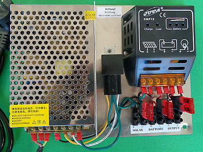 Spannungswandler, Transformator 12V f. Wohnwagen mit Solar-Regler LED-kompatibel