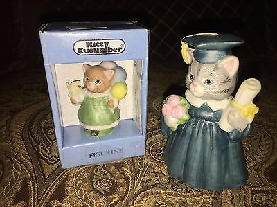Surprise Graduate (2 Kitty Cucumber Graduate & Party Surprise Cats 1987 & 1990 )