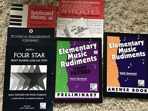 Music theory books;RCM exams for piano