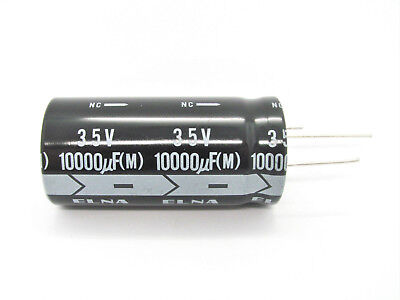 6800uf Or 10000uf - 35v - 3-lead Electrolytic Capacitors - Elna Nos
