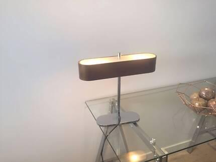 Desk lamp chrome base