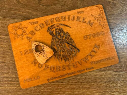 Grim Reaper Spirit Board with Planchette (Wooden Engraved)