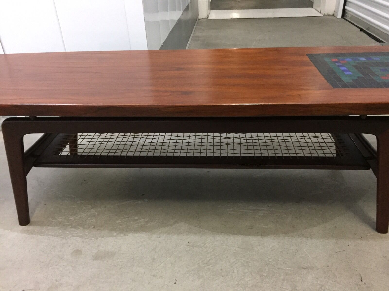 4 Of 10 Finn Juhl Mid Century Modern Coffee Table With Mosaic Inlay