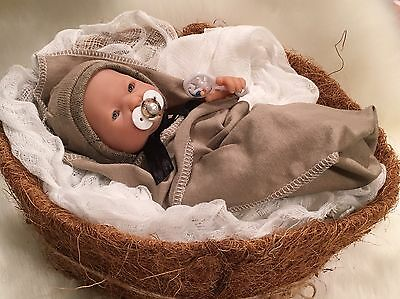 """OOAK 9-10"""" BoY DoLL CLOTHES~PaCiFieR~ToY~FoR Micro Preemie Reborn's~Berenguer"""