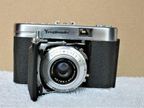 Vintage Voigtlander Vito IIa 35mm Camera Original Leather Case UNTESTED Germany
