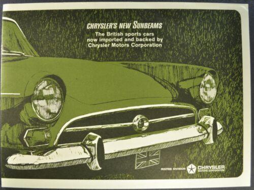 1966 Sunbeam Tiger Catalog Brochure Convertible Raodster Excellent Original 66