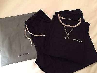 American Airlines International First Class Sleeper Pajamas Size L/XL