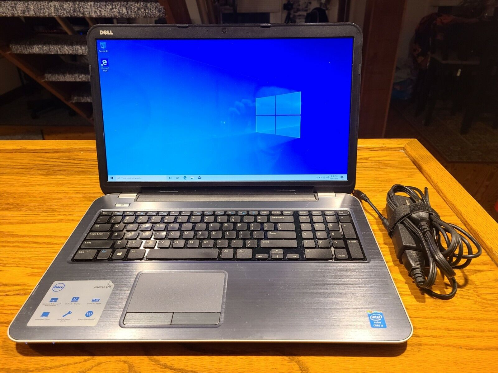 "Laptop Windows - Dell Insporn 17R - 17.3"" Laptop, i7-4500U, 6 GB RAM, 128 GB SSD, Windows 10 Home"