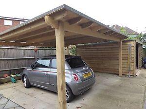large 6m X 5m wooden pergola, Oversized Pergola, Large Car-port/Smoking Shelter