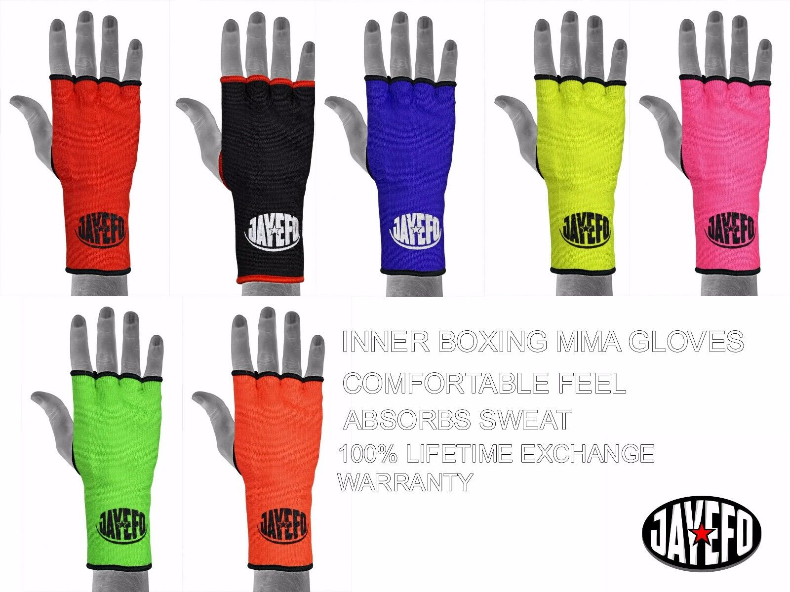 Boxing Hand Wraps Bandages Fist Inner Gloves MMA Muay Thai Pairs