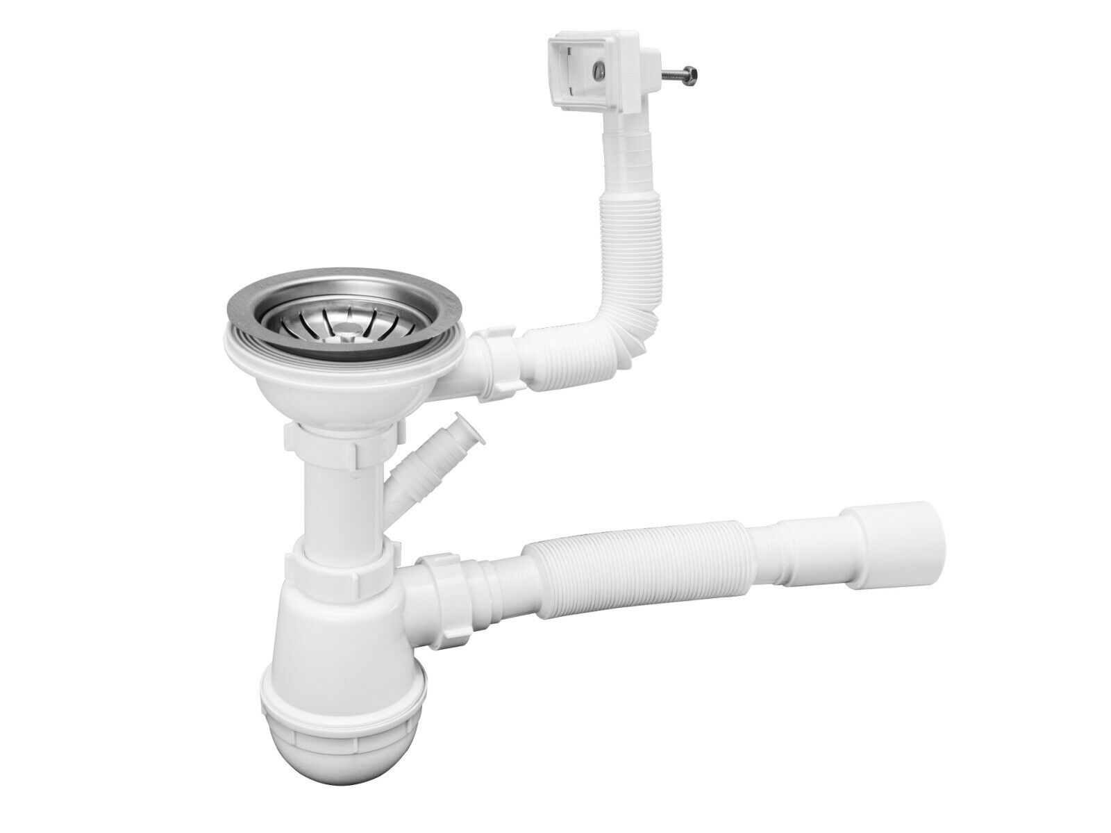 Ablaufgarnitur Spüle Spülen Siphon Geruchsverschluss Ablauf Spülbecken Universal