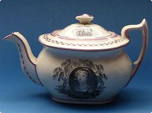 superb 1817 princess charlotte in memoriam teapot. Black Bedroom Furniture Sets. Home Design Ideas