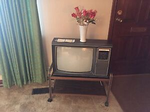 Vintage television and stand