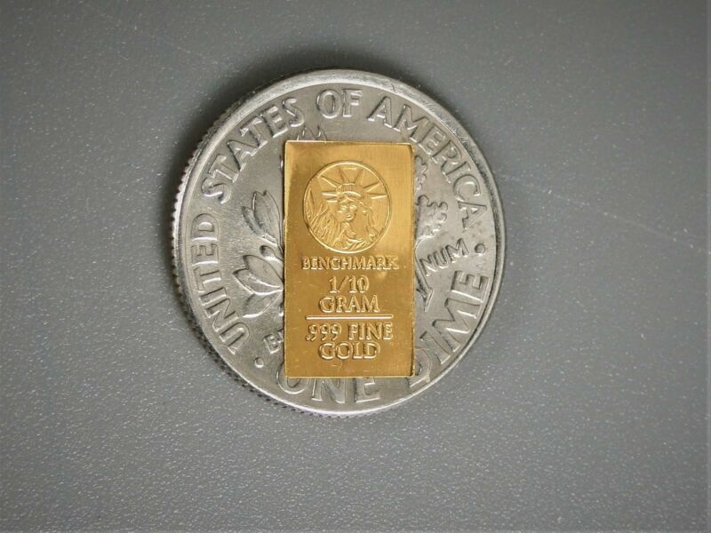 1/10 Gram Gold Bar  24K 999.9 Fine Gold Bullion Bar in sealed cert card ZZA
