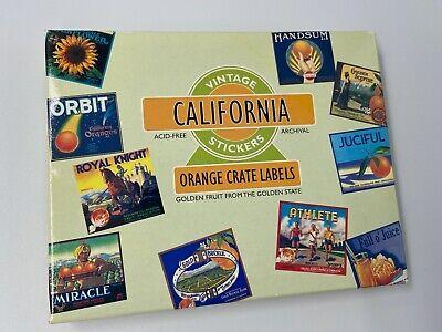 Vintage CA Orange Crate Labels Acid-Free Archival 20 Stickers