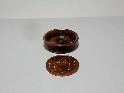 1:12 Scale Stone Dog Bowl Doll House Miniature Pet