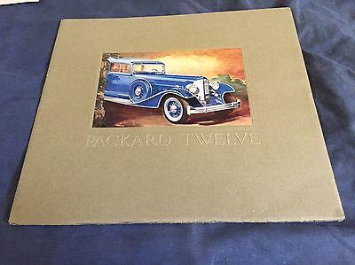 1933 Packard Twelve Large Prestige Series 10 Color Catalog Brochure Prospekt for sale  Santee