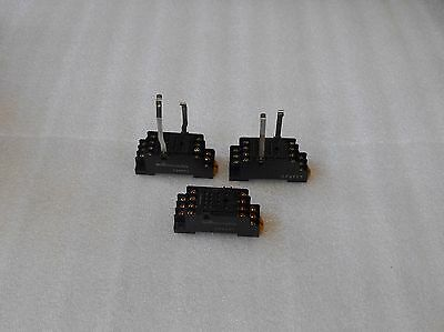3 - Omron Relay Bases, PYF14A, Used, Warranty