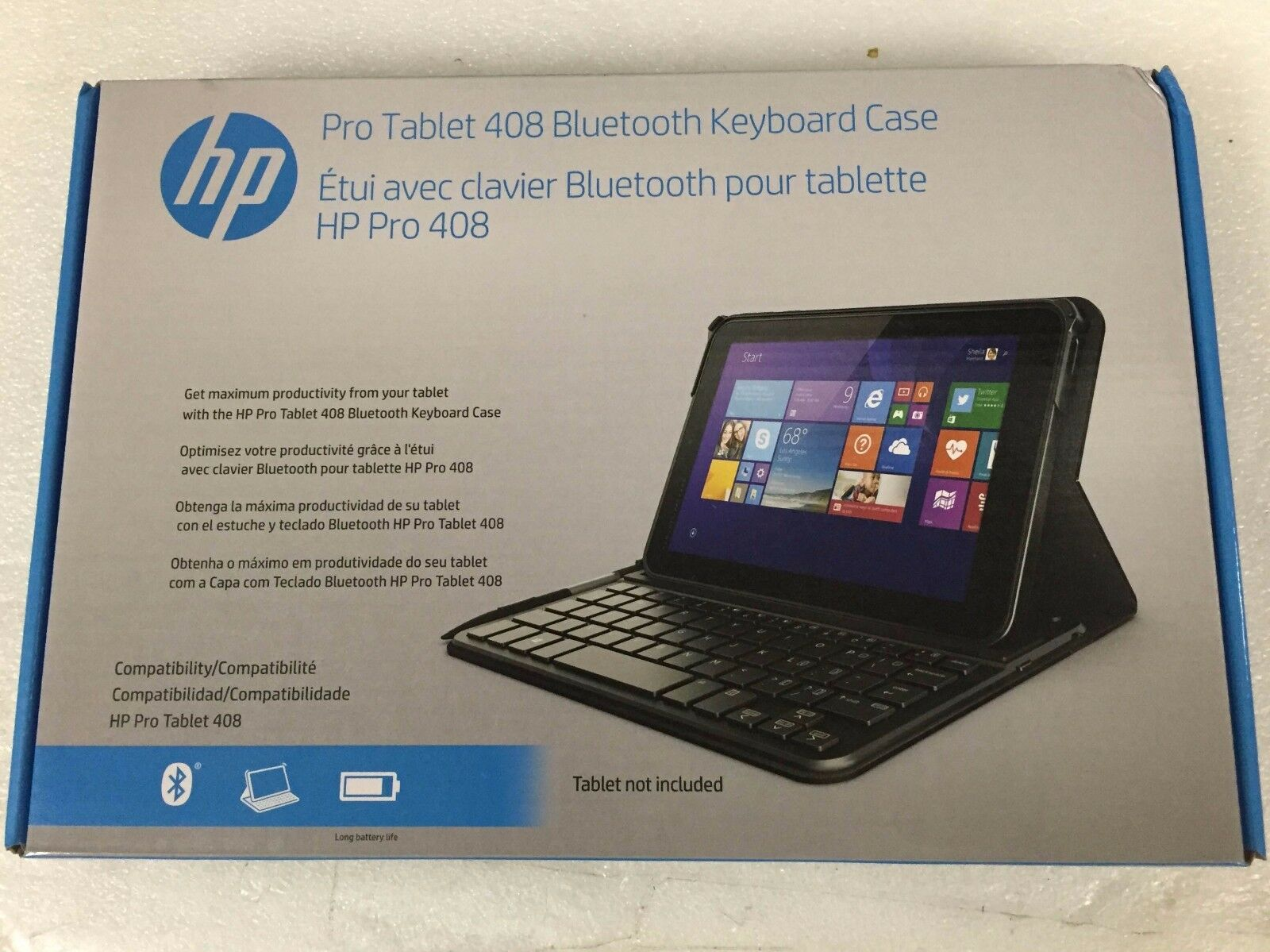 K8p76aaabl - Hp Pro Tablet 408 Bluetooth Keyboard & Folio...
