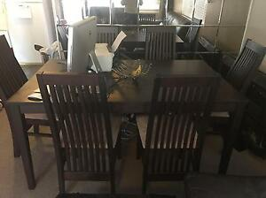 Wooden Dining Table and Chairs Cronulla Sutherland Area Preview