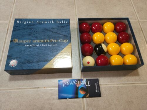 SUPER BELIAN ARAMITH PRO-CUP OFFICIAL 8 POOL BALL SET NEW!