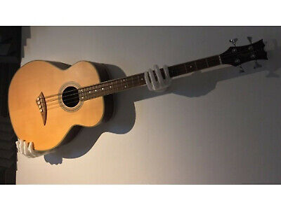 HANDS! Horizontal/Sideways Guitar Wall Mount Hanger! Holder Cradles your Guitar! ()