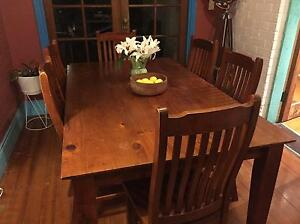 Dining room table and chairs (6x) set Rozelle Leichhardt Area Preview
