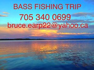 Guided bass fishing trip tour guide Kawartha Lakes