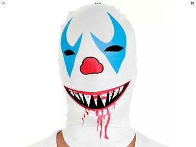 Morphsuit Original Halloween Scary Clown Mask Costume  Prop Fancy Dress Masklarp - Scary Morphsuit