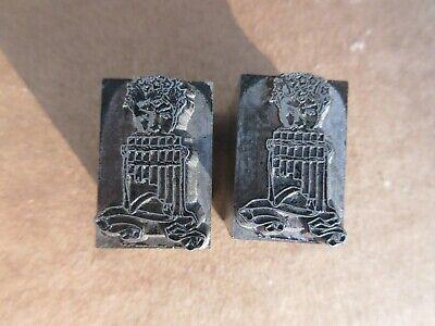 2 Letterpress Lead Type 48 X 72 Pt. Strathmore Ornament No. 163  Atf M97