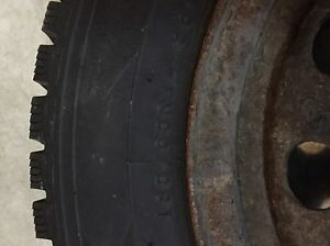 WINTER TIRE ON RIMS FOR SALE - 185/65R14 Cambridge Kitchener Area image 8