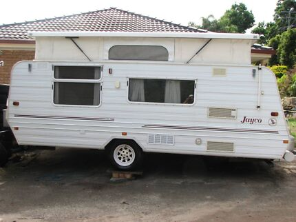 17' Jayco Caravan Factory AIR CON Rollout awning zip on walls Tweed Heads South Tweed Heads Area Preview