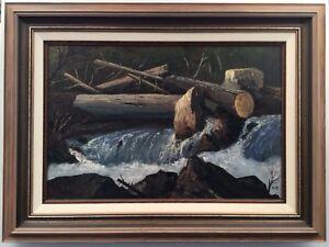 1975 William Kratzer (1922-1997) Ragged Falls Algonquin Painting